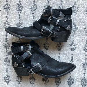 Dolce Vita studded black cowboy booties